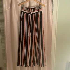 Height waisted striped float dress pant